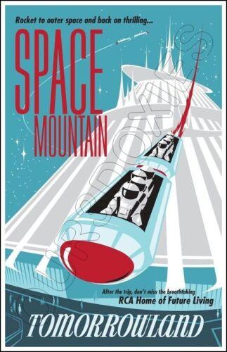 Disneyland Space Mountain Poster 11X17 - Tomorrowland