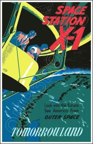 Disneyland Space Station X-1 Poster 11X17 - Tomorrowland