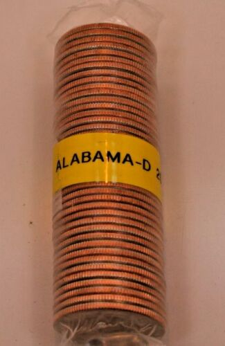 ALABAMA 2003-D UNCIRCULATED BANK WRAPPED ROLL QUARTERS