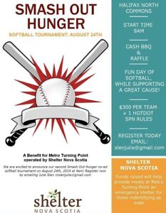 Smash Out Hunger softball tournament