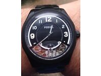 Men's fossil watch me1151 semi automatic in black