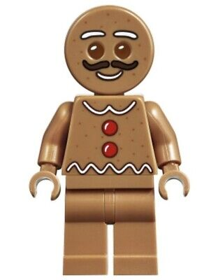 New LEGO Gingerbread Man Minifigure - From Set 10267 - Limited Christmas Holiday