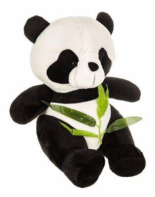 LARGE SITTING PANDA KIDS TEDDY BEAR SOFT PLUSH CUDDLY TOY WHITE BLACK GIFT