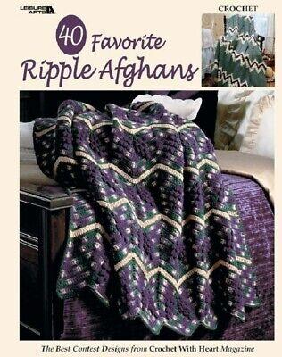 Crochet Pattern Book 40 FAVORITE RIPPLE AFGHANS ~ Best Contest
