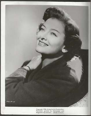 R PHOTO Myrna Loy USA Actress 1956
