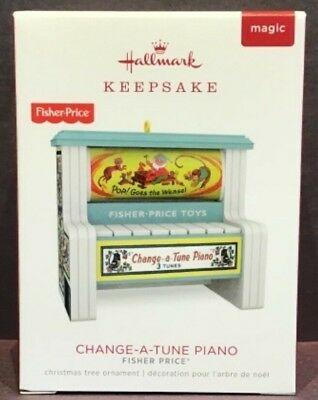 "Hallmark Keepsake Ornament - Fisher Price ""Change-A-Tune Piano-Plays a Tune-2018"