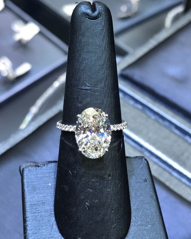 1.60ctw Natural Oval Cut Hidden Halo Pave Diamond Engagement Ring - GIA Cert 1