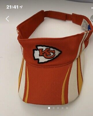 Reebok NFL Kansas City Chiefs Visor Hat Strapback Red NWT Nfl Reebok Visor Hat