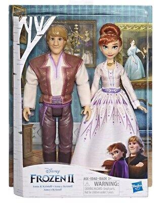 Disney Frozen II Anna And Kristoff Fashion Dolls 2 Pack NIB Hasbro