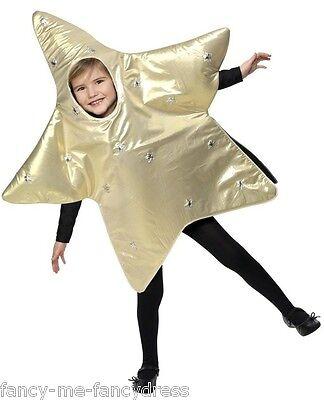 Mädchen Jungen Gold Star Weihnachten Krippe Verkleidung Kostüm Outfit 4 5 - Jungen Krippe Kostüm