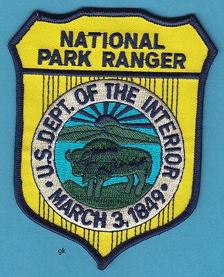 NATIONAL PARK RANGER  DEPT. OF THE INTERIOR SHOULDER POLICE PATCH (Color)