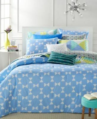 New Martha Stewart Collection Whim King  5-Pc Comforter Set Bow Tie Geo (Geo Collection Comforter Set)