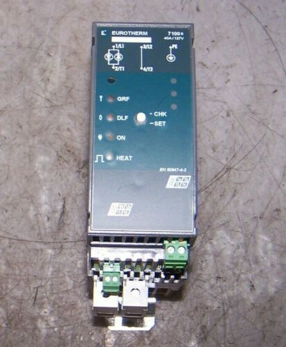 NEW EUROTHERM 7100S SINGLE PHASE SOLID STATE CONTACTOR 40A/127V/NONE/XXX/MSFU