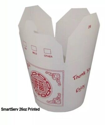 25 Chinese 26 Oz Take Out Food Containers WestRock Fold-pak (B10)