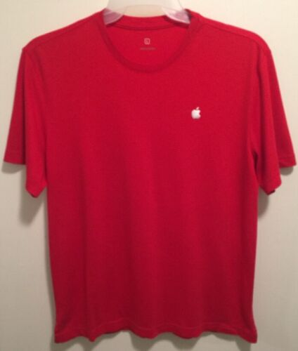 EUC Authentic Apple Computer Logo Red Employee Uniform T-Shirt Unisex Large