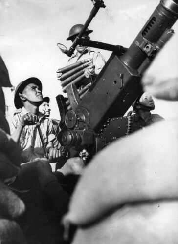 WW2  Photo Australian Troops 40mm AA Gun Australia WWII World War Two ANZAC