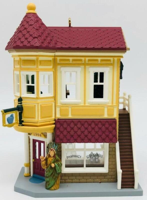 1994 Neighborhood Drugstore Hallmark Ornament Nostalgic Houses #11