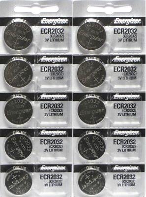 Energizer CR2032 3V Lithium Coin Battery 2032 New Fresh 10 Pcs USA Seller
