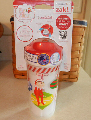 Christmas Sippy Cups (Elf on the Shelf Toddler Sippy Cup Christmas Holiday)
