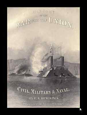 National History of the War for the Union - Civil, Military & Naval - 3 Volumes