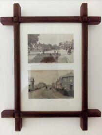 Antique frame of original Brightlingsea postcard