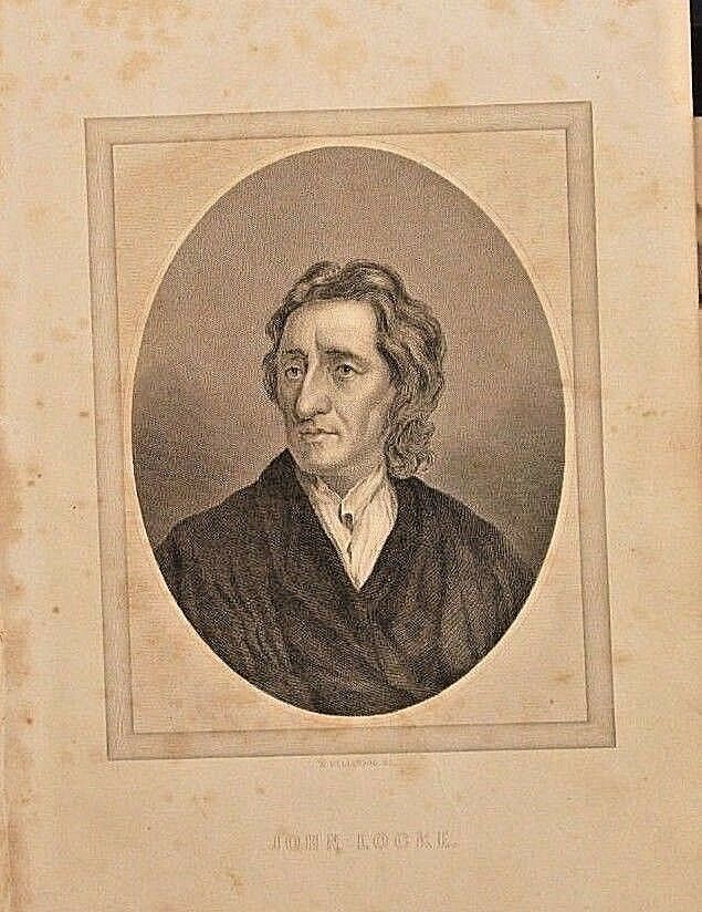 John Locke, The Philosophy Of Mind, W/text Vintage 1866 Antique Print Scarce - $18.00