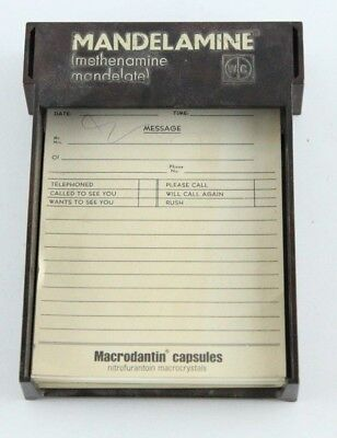 Vintage Pharmaceutical Notepad Holder Desktop Collectible Antibiotics Medical Desktop Notepad Holder