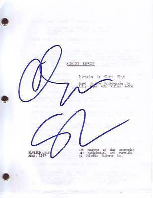 Oliver Stone Signed Autographed Midnight Express Script