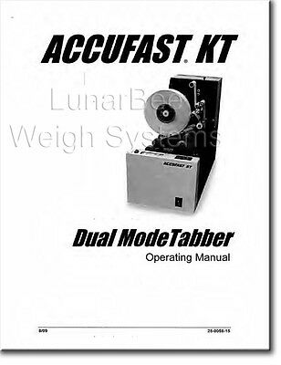 Accufast Kt Tabber Parts And User Operators Manuals