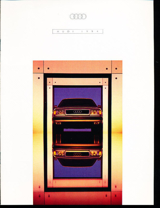 1994 Audi Sales Brochure V8 Quattro S4 90 Cabriolet 100