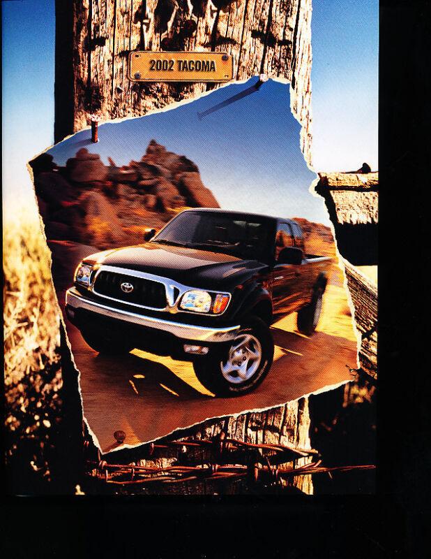 2002 Toyota Tacoma Truck Original Sales Brochure Catalog