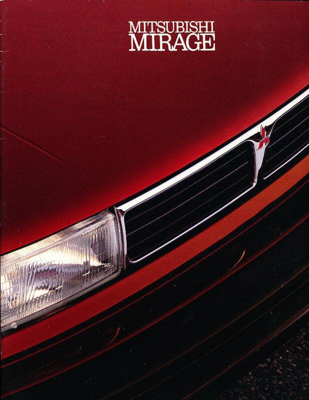 1991 Mitsubishi Mirage Original Sales Brochure
