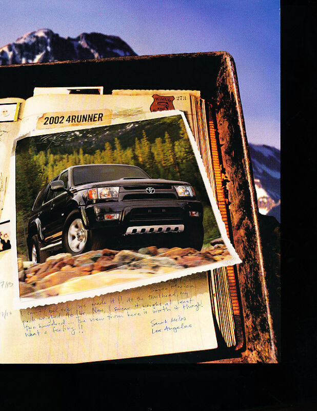 2002 Toyota 4Runner Original Sales Brochure