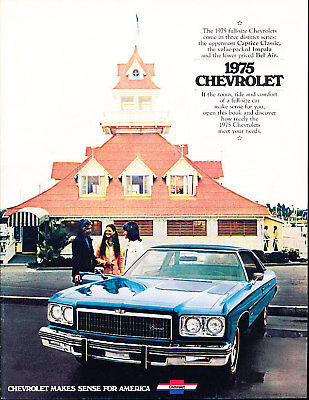 1975 Chevrolet Impala Caprice Classic Bel Air 20-page Car Sales Brochure Catalog ()