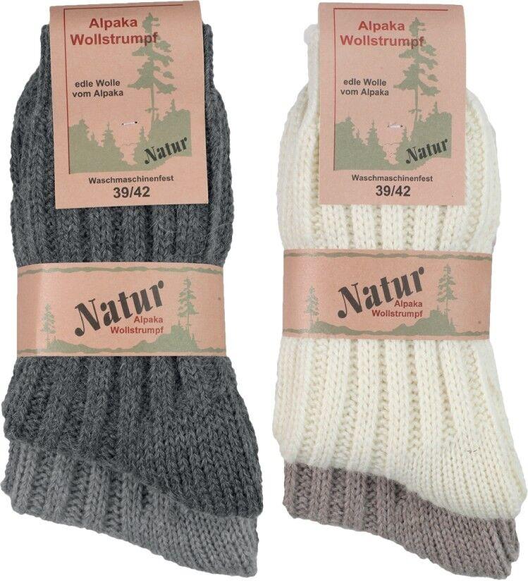 2 paar Damen/Herren Alpaka Wollstrümpfe  ( Wintersocken )
