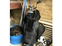 Golf clubs Wilson and Taylor made bag