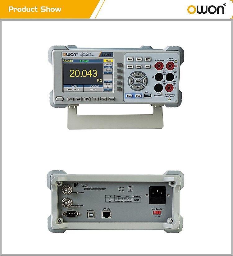 OWON XDM3051 5 1/2 Digit DMM, AC/DC V/A, Temp, Freq, DataLog, 4 wire Res + WIFI