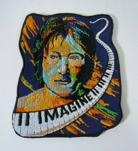 JOHN LENNON-IMAGINE-Embroidered Iron-On Patch - 3.5""