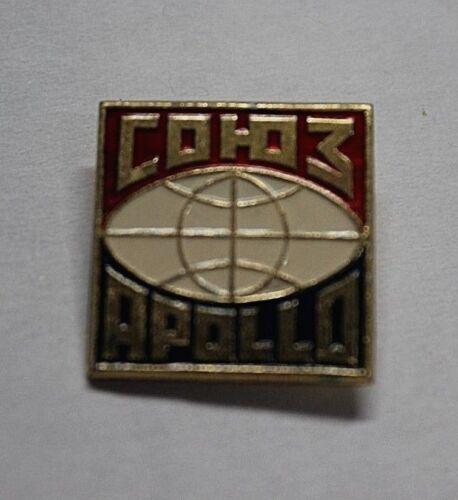 Soyuz-Apollo Space Flight, Vintage Pin Badge