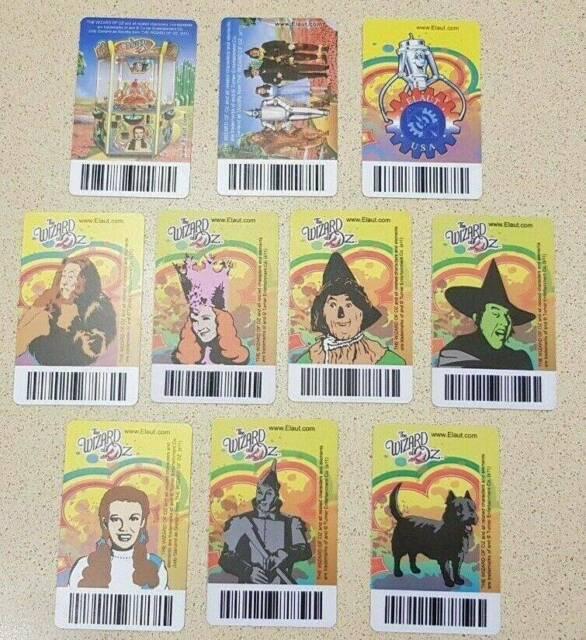 FULL SET Wizard Of Oz - Elaut Coin Pusher Card Got from