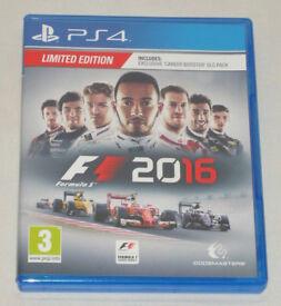 SONY PLAYSTATION PS4 GAME FORMULA 1 F1 2016 PAL 3 DOLBY DIGITAL LIMITED EDITION.