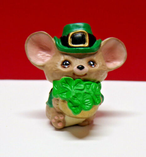 Hallmark Merry Miniature IRISH MOUSE  Mini Figurine