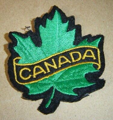Canada Souvenir PATCH Souvenir Cloth Maple Leaf Colorful Bright