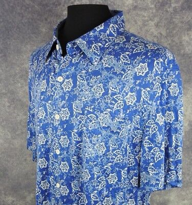 Nat Nast Mens Shirt Size 2Xl Short Sleeve 100  Silk Floral Button Down Nwt