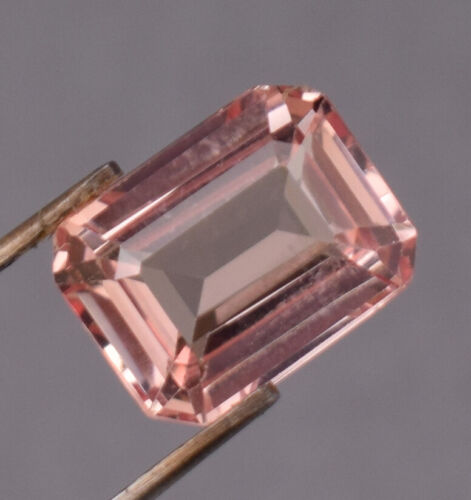 REAL IS RARE 4.35 ct Natural Padparadscha Peach Pink Sapphire Emerald Cut Loose
