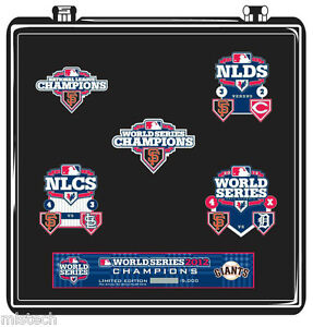 MLB San Francisco SF Giants World Series Champions 2012 - 5 Pin Set - Limited Ed