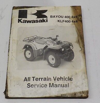 GENUINE KAWASAKI BAYOU 400 4X4 KLF400 4X4 ALL TERRAIN SERVICE MANUAL