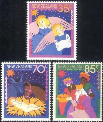 New Zealand 1987 Christmas/Greetings/Nativity/Stable/Animation 3v set (n20636)