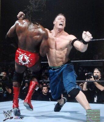 Official WWE 8x10 Photofile Glossy Promo Photo - John Cena vs. Booker T 2004