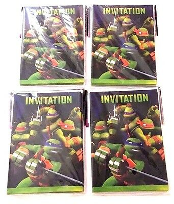 TEENAGE MUTANT NINJA TURTLES INVITATIONS  (32) ~ Birthday Party Invites - Ninja Turtle Party Invitations